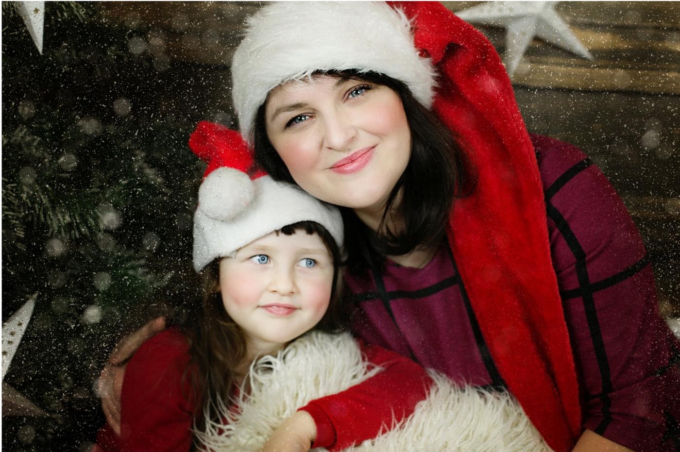 Świąteczna sesja Asia & Kalinka